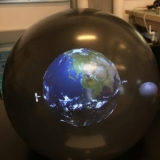 VR earth in a sphere